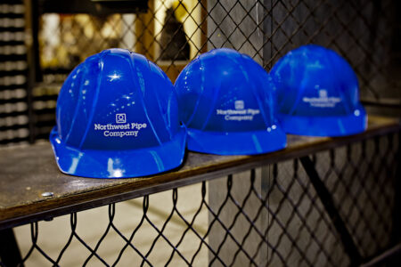 close up of hardhats