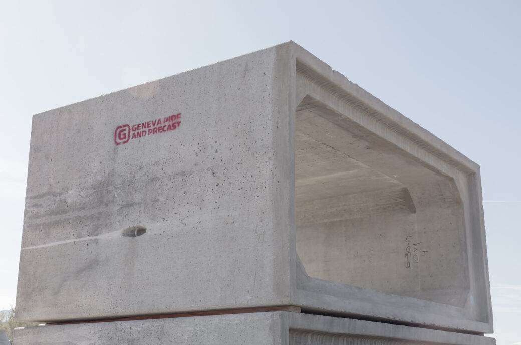 product rcp and precast stacked concrete block with logo