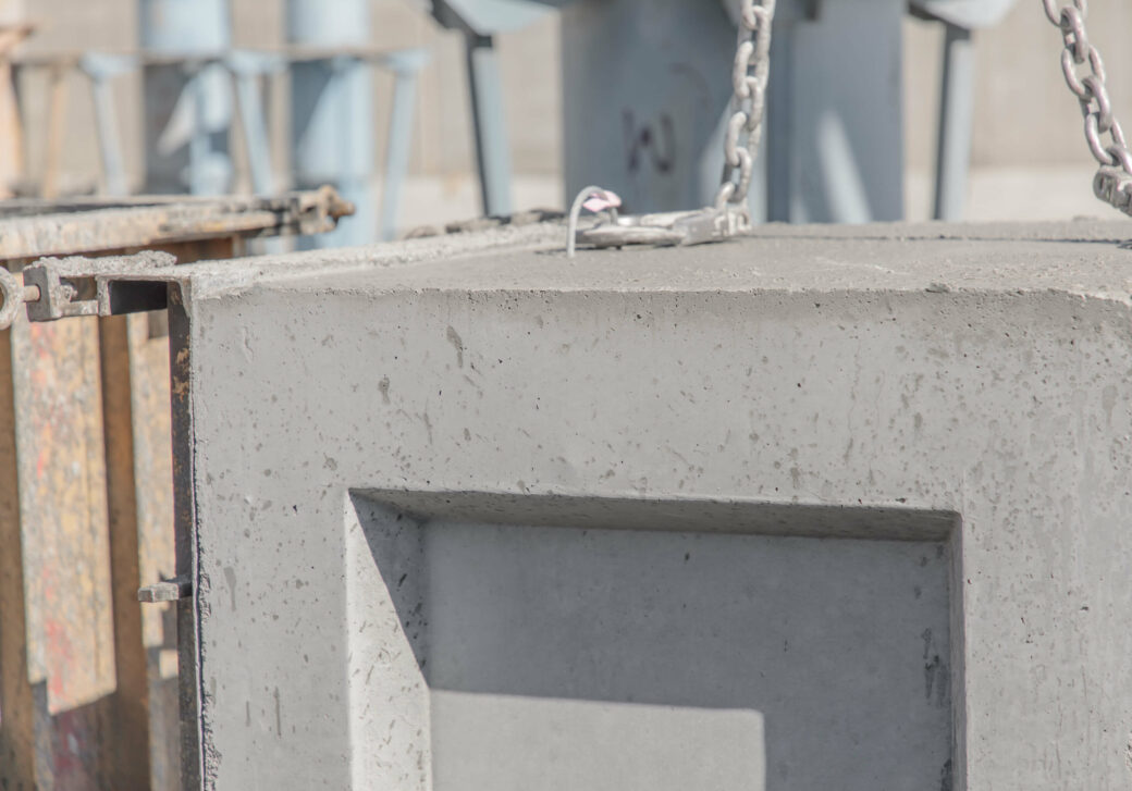 products rcp and precast box culverts close up square with chain