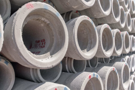 products rcp and precast concrete pipes stacked