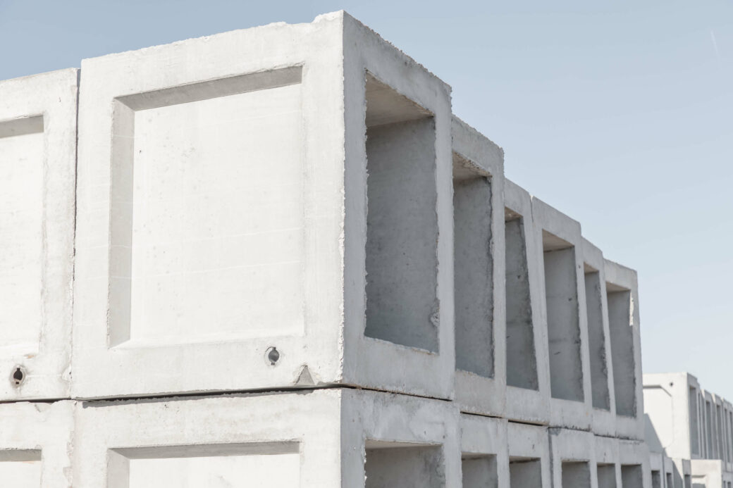 products rcp and precast concrete square boxes stacked
