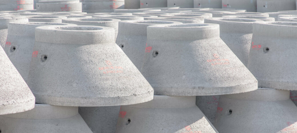 products rcp and precast manholes indiviual stacked