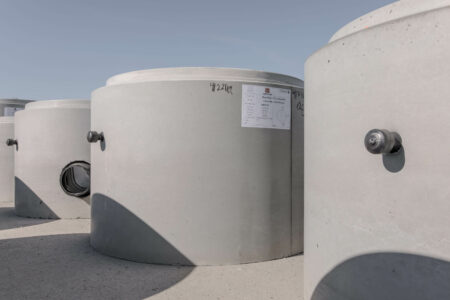 products rcp and precast manholes large grey structures