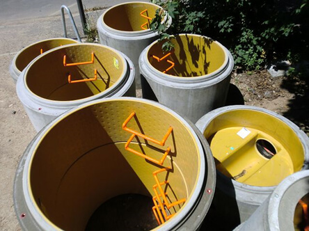 products rcp and precast perfect lined manholes yellow pipe with orange ladder