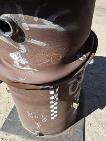 close up of costume steel pipe