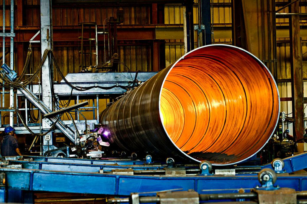product esp large glowing orange pipe
