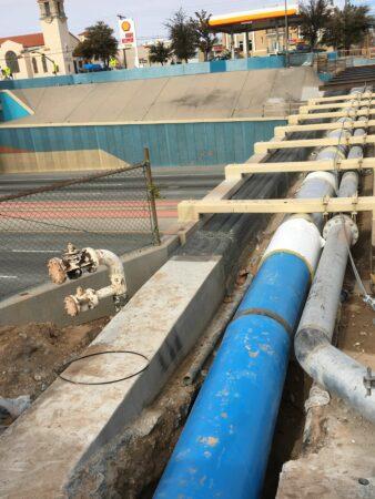 I-10 el Paso blue pipe across road
