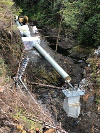 gunnuk creek top view of pipe
