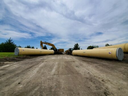 project archive lower bois darc pipe in road