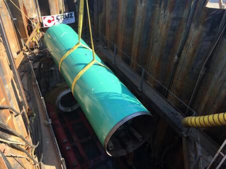 philadelphia airport green pipe lowering