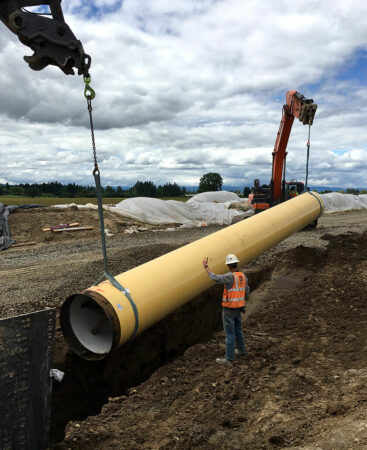 willamette water supply yellow pipe lowering