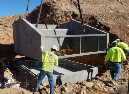 energy dissipator vault installation