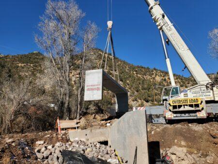 Dixie National Forest Bridge Installation
