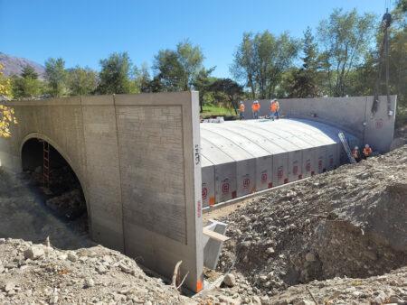 American Fork River Bridge Installation