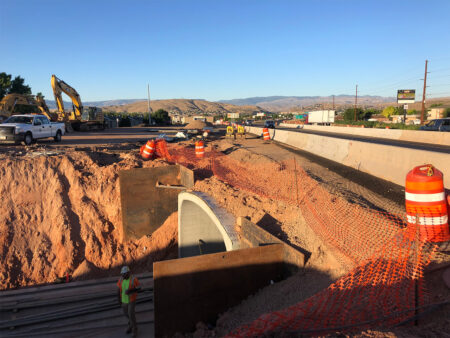 Dixie State University St. George Pedestrian Tunnel From Above