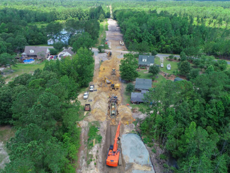 Kings Bluff Water Main Pipeline Installation