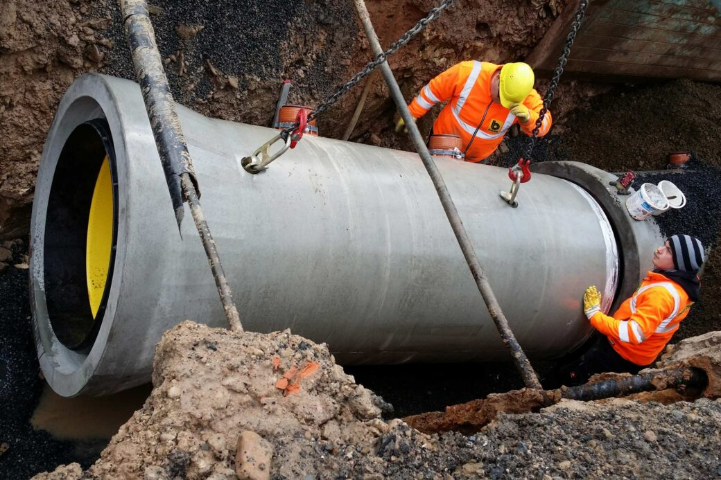 Perfect Pipe Open Trench Installation