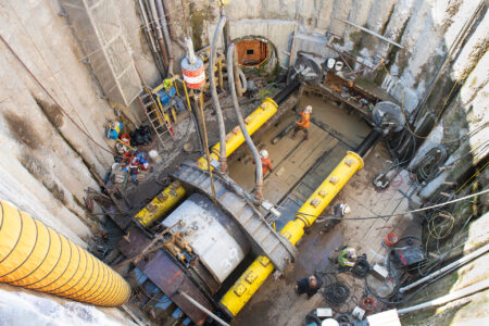 Venice Dual Force Main - Concrete Jacking Pipe Trenchless Installation